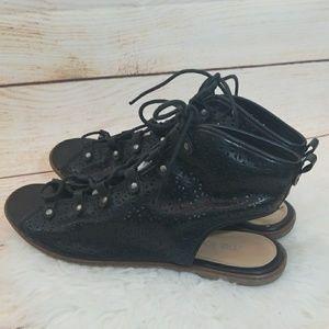 Me Too Ilene lace up open toe ankle sandals sz 10